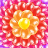 Background from colorful balloons. Holiday background from colorful balloons in the form of flower, illustration Stock Photography