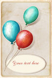 Background with colorful balloons. And place for text Royalty Free Illustration