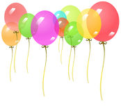 Background with colorful balloons. Royalty Free Stock Photo