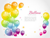 Background with colorful balloons Royalty Free Stock Image