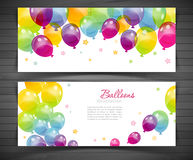 Background with colorful balloons Royalty Free Stock Photo