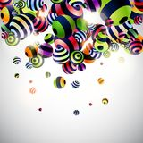 Background with colorful balls Royalty Free Stock Photos