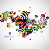 Background with colorful balls. 3D colorful balls. Colorful background royalty free illustration