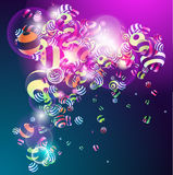 Background with colorful balls. 3D colorful balls. Colorful background Royalty Free Stock Photography