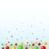 Background with colorful balls Stock Image