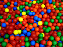 Background. Colorful balls in a playground Royalty Free Stock Photography