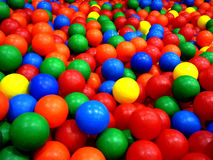 Background. Colorful balls in a playground Royalty Free Stock Photo