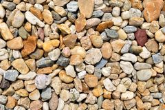 Background of colorful beach pebbles Stock Images