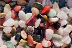 Background of colorful beach pebbles Stock Photo