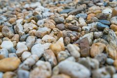 Background of colorful beach pebbles Stock Photography