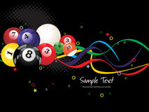 Background with colorful boilliard balls Royalty Free Stock Images