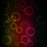 Background of colorful bokeh. Vector art illustration Stock Photography