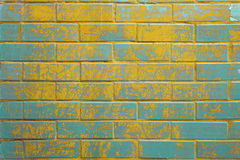 Background of colorful brick wall texture Royalty Free Stock Images