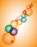 Background with colorful bubbles, hearts and stars. Modern background with colorful bubbles, hearts and stars Stock Image
