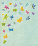 Background with colorful butterflies. Acrylic illustration of background with colorful butterflies vector illustration