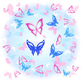 Background of colorful butterflies flying Royalty Free Stock Images