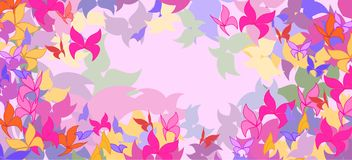 Background with colorful butterflies Stock Photo