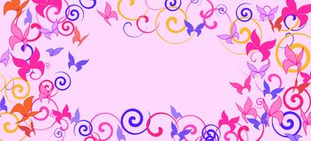Background with colorful butterflies. Romantic background with multicolored butterflies royalty free illustration