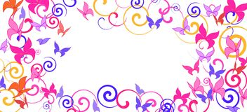 Background with colorful butterflies. Romantic background with multicolored butterflies vector illustration