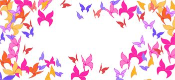 Background with colorful butterflies. Romantic background with multicolored butterflies stock illustration