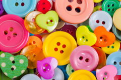 Background from of colorful buttons Stock Image