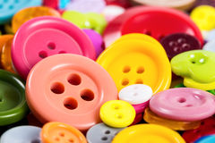 Background from of colorful buttons Stock Photos