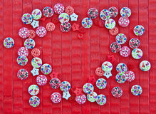 Background with colorful buttons Royalty Free Stock Photo