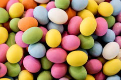 Background of colorful chocolate Easter eggs Royalty Free Stock Image
