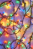Background of colorful Christmas lights royalty free stock photo