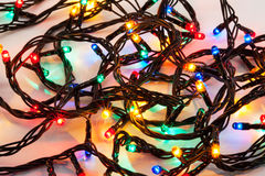 Background of colorful Christmas lights Royalty Free Stock Images