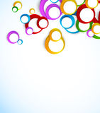 Background with colorful circles Royalty Free Stock Photos