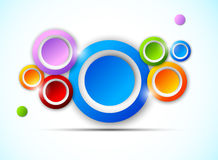 Background with colorful circles Royalty Free Stock Image