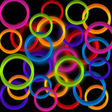 Background with colorful circles . Stock Photography