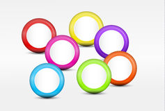 Background with Colorful Cirles. Abstract background with seven cirles in different colors Stock Images