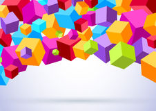 Background with colorful cubes Royalty Free Stock Photography