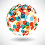 Background of colorful cubes in the shape of balls Royalty Free Stock Photography