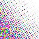 Background of various colored dots of different sizes on white. A background of colorful dots of different sizes on white for text vector illustration