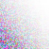 Background of various colored dots of different sizes on white. A background of colorful dots of different sizes on white for text stock illustration