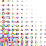 Background of various colored dots of different sizes on white. A background of colorful dots of different sizes on white for text royalty free illustration