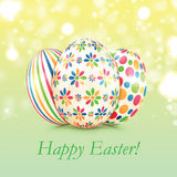 Background with colorful Easter eggs Royalty Free Stock Photos