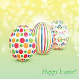 Background with colorful Easter eggs Stock Photo