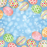 Background with colorful Easter eggs Stock Images
