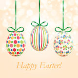 Background with colorful Easter eggs Stock Photography