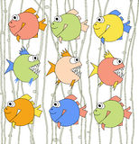 Background with colorful fishes Royalty Free Stock Photo