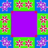 background colorful flower frame illustration Στοκ Εικόνες