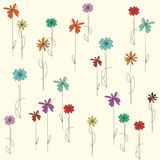 Background with colorful flowers Stock Photo