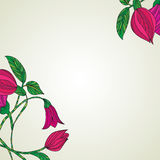 Background with colorful flowers. Vector illustration of background with colorful flowers Stock Image