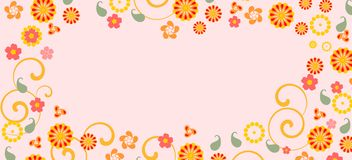 Background with colorful fowers Royalty Free Stock Photos