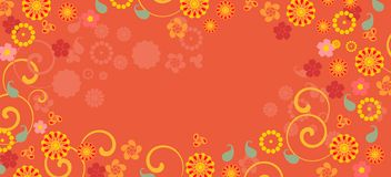 Background with colorful fowers Royalty Free Stock Photo
