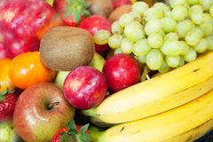 Background of colorful fresh tropical fruit Stock Photo